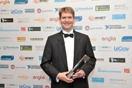 Graeme-Wintle-of-ByteSnap-with-the-teams-Elektra-Award